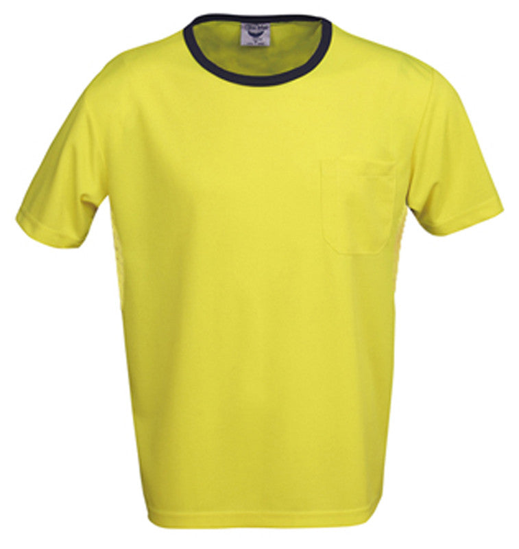 Hi Vis Micro Mesh T-Shirt - Yellow/Navy