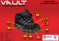 Tornado Vault Safety Steel Cap Boot - Ace Workwear