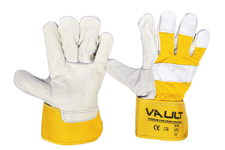 Premium Cow Leather Gloves - Pack (12 Pairs) - Ace Workwear