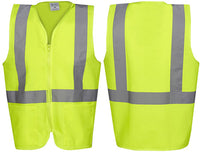 Hi Vis Day/Night Safety Vest with Zip and Pockets - Ace Workwear