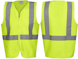 Hi Vis Day/Night Safety Vest with Zip and Pockets (V84) - Ace Workwear