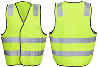 Hi Vis Safety Vest with Back H Reflective Tape (V82) - Ace Workwear
