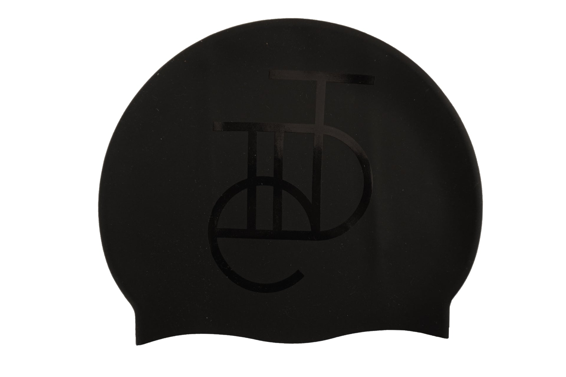 Tiide black stealth swim cap