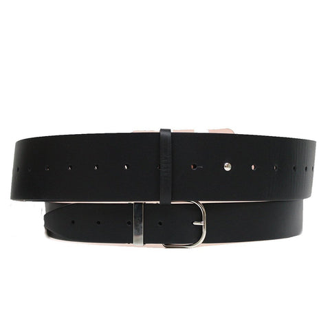 Balenciaga Buckle Wide Double Leather Belt Silver Hardware Size: 80/32 311916 at_Queen_Bee_of_Beverly_Hills