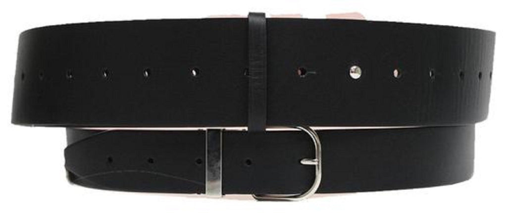 Balenciaga Buckle Wide Double Leather Belt Silver Hardware Size: 80/32 at_Queen_Bee_of_Beverly_Hills