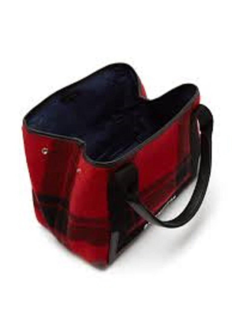 Balenciaga Cabas Pouchette Red Black Leather Handbag at_Queen_Bee_of_Beverly_Hills