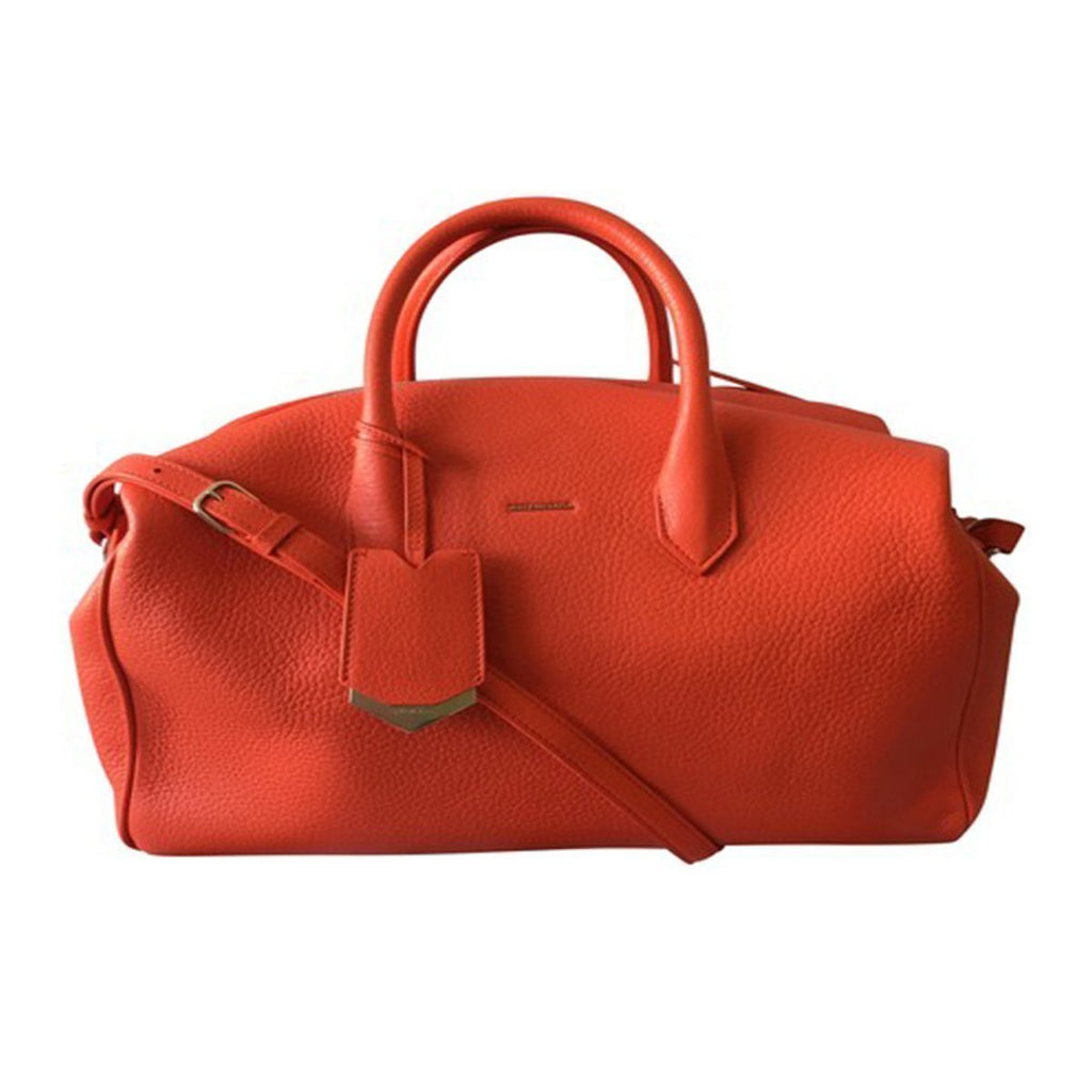 Balenciaga Classic Women's Rouge Leather Coquelicot Satchel Bag 390921 at_Queen_Bee_of_Beverly_Hills