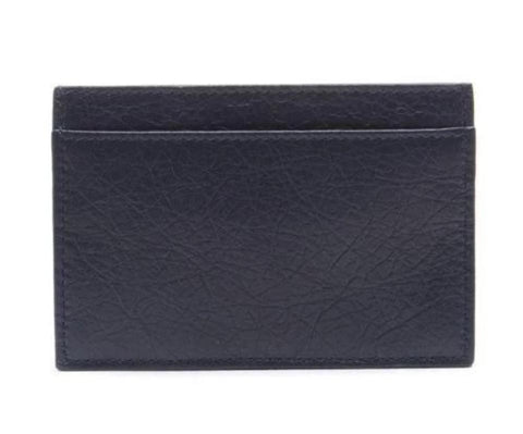Balenciaga Men's Navy Gray Square Leather Business Card Wallet 311824 at_Queen_Bee_of_Beverly_Hills