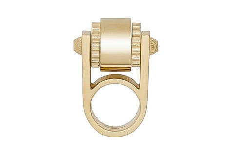 Balenciaga Women's Gold Ring 328005 Size: 5 at_Queen_Bee_of_Beverly_Hills