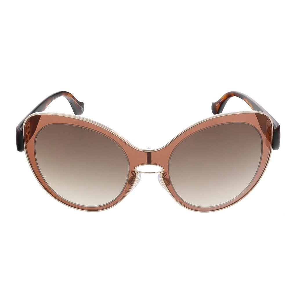 Balenciaga Women's Mauve Pink Havana Round Sunglasses BA0002S NWT at_Queen_Bee_of_Beverly_Hills