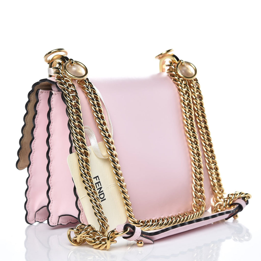 Fendi Kan I Mini Rainbow Pink Confetto Calf Leather Multi Color Stud Bag 8M0381 at_Queen_Bee_of_Beverly_Hills