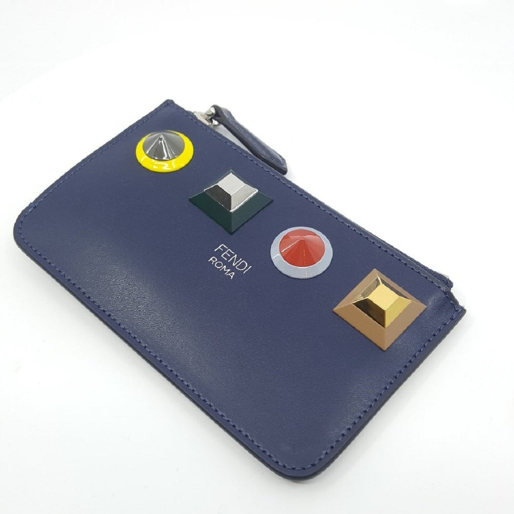 Fendi Large Rainbow Calf Leather Blueberry Key Case 8AP151-SRO at_Queen_Bee_of_Beverly_Hills