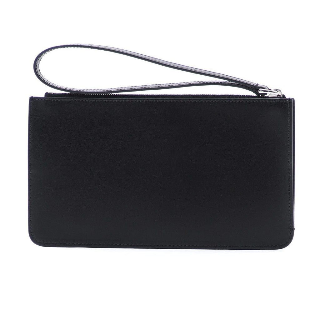 Fendi Women's Black Leather Rainbow Stud Pouch Clutch Wristlet Bag 8M0341 at_Queen_Bee_of_Beverly_Hills