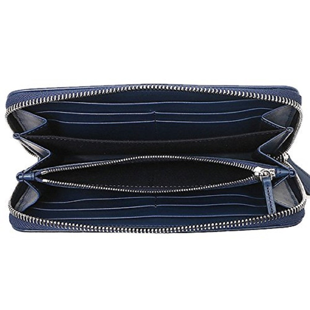 Fendi Women's By The Way Navy Blue Leather Full Zip Wallet 8M0251 at_Queen_Bee_of_Beverly_Hills