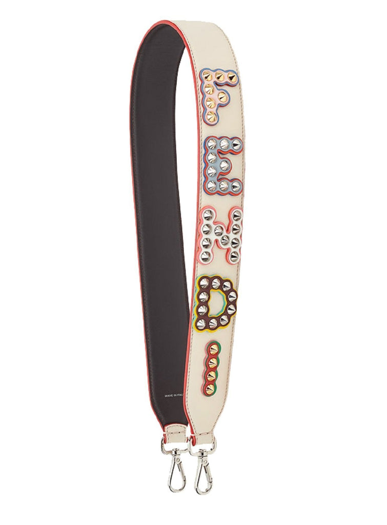 Fendi Women's You Calf-Skin Leather Shoulder Strap With Studs 8AV077A0Y5F10V3 at_Queen_Bee_of_Beverly_Hills