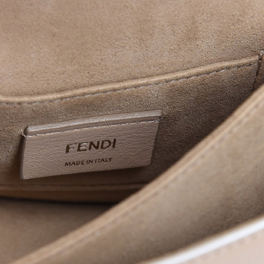 Fendi Womens Kan I Beige Multi Color Flowers Soft Leather Shoulder Bag 8M0381 at_Queen_Bee_of_Beverly_Hills