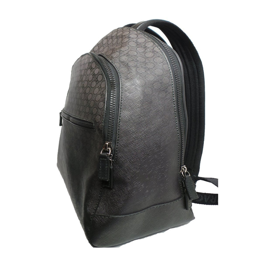 Ferragamo Unisex Black Degrade Large Leather Canvas Backpack 240195 at_Queen_Bee_of_Beverly_Hills
