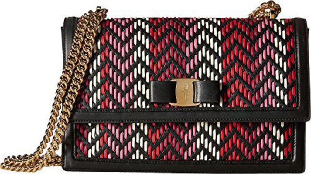 Ferragamo Women's Ginny Multi Rosa Calf Shoulder Handbag G172/01 at_Queen_Bee_of_Beverly_Hills