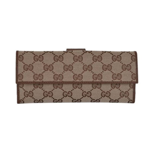 GUCCI Beige Brown Women's Gg Beige/Brown Continental 231841 Wallet NWT at_Queen_Bee_of_Beverly_Hills