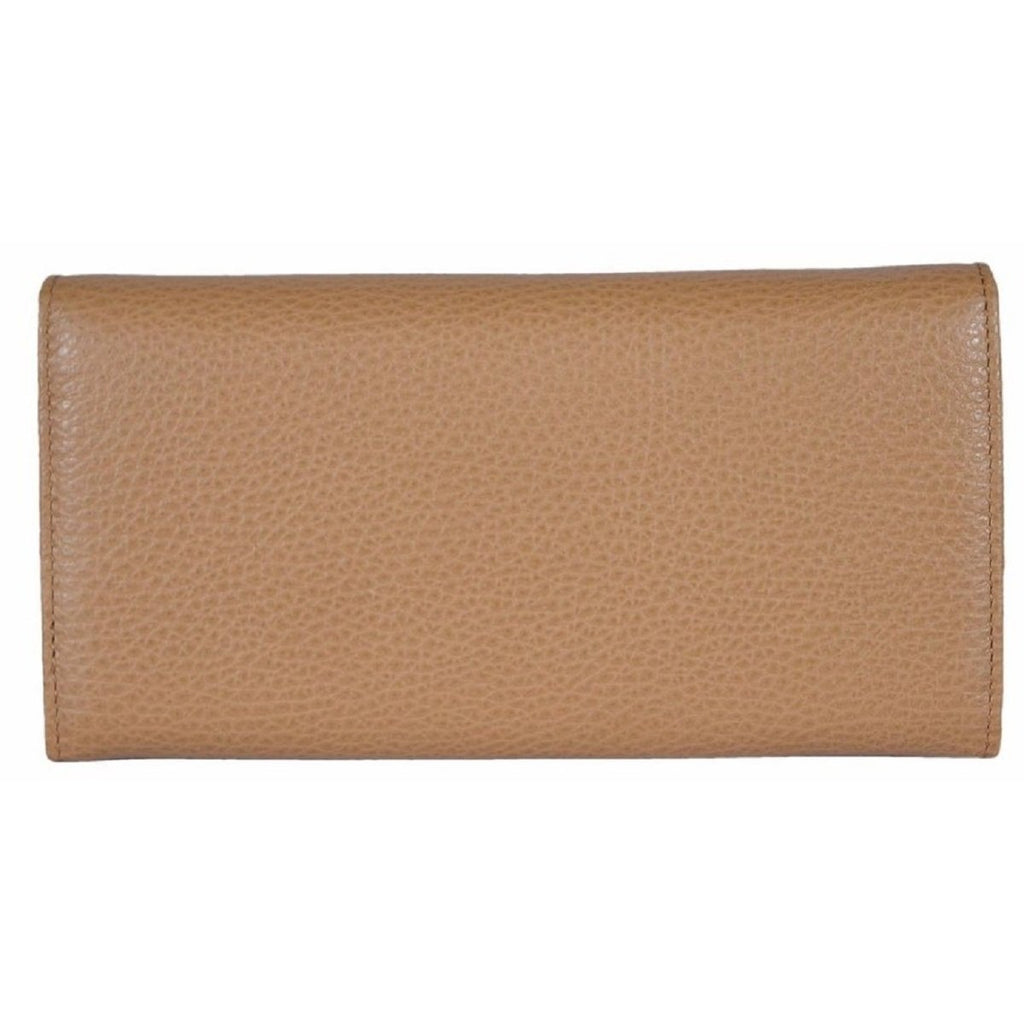 Gucci Beige Medium Leather Continental Flap Wallet for Women 346058 at_Queen_Bee_of_Beverly_Hills