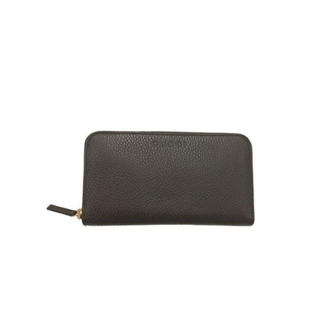 Gucci Classic Dark Brown Pebbled Leather Zip Around Women's Wallet 363423 at_Queen_Bee_of_Beverly_Hills