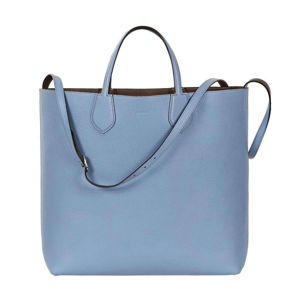 Gucci Classic Women's Baby Blue Reversible Ramble Tote Bag/Shoulder Bag 370823 at_Queen_Bee_of_Beverly_Hills