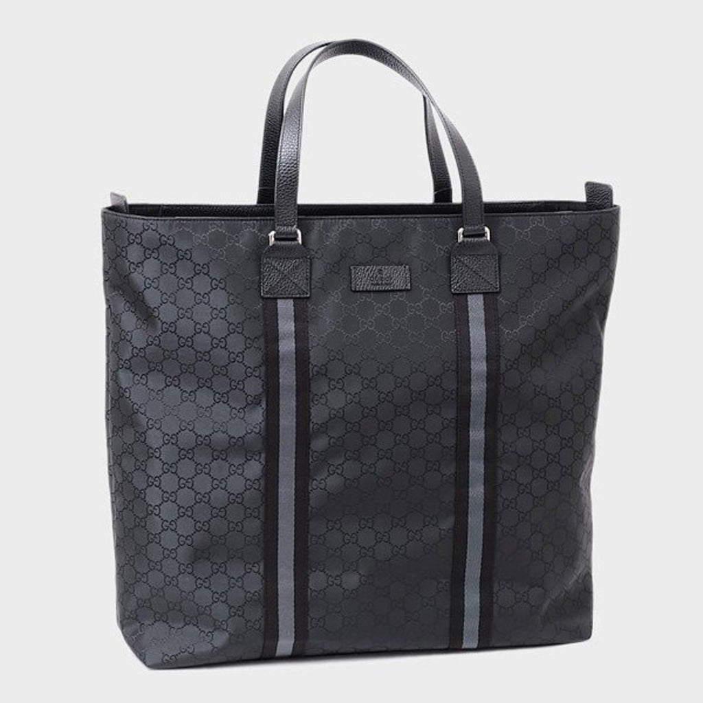 Gucci GG Canvas Guccissima Web Trim Leather Large Leather Luggage Tote 449179 at_Queen_Bee_of_Beverly_Hills