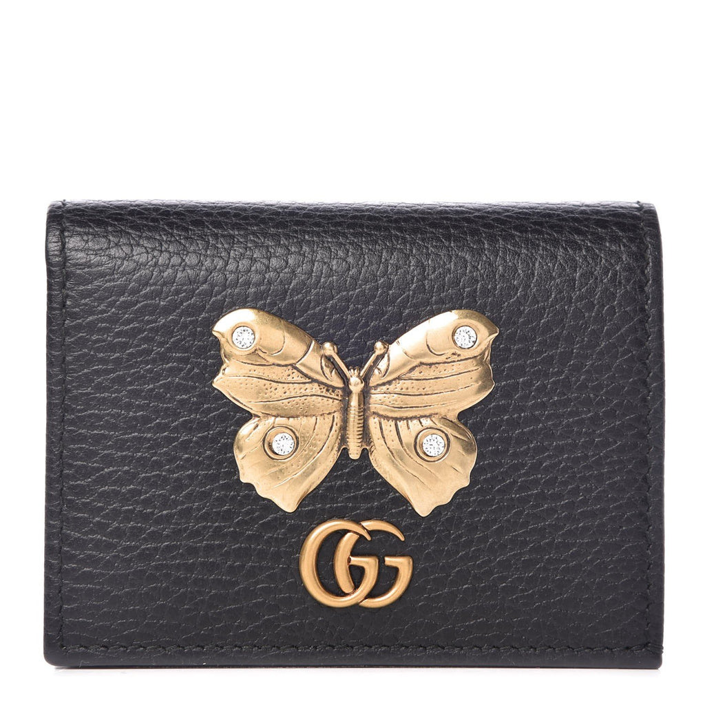 Gucci GG Marmont Butterfly Dollar Calf Leather Flap Wallet 499361 at_Queen_Bee_of_Beverly_Hills