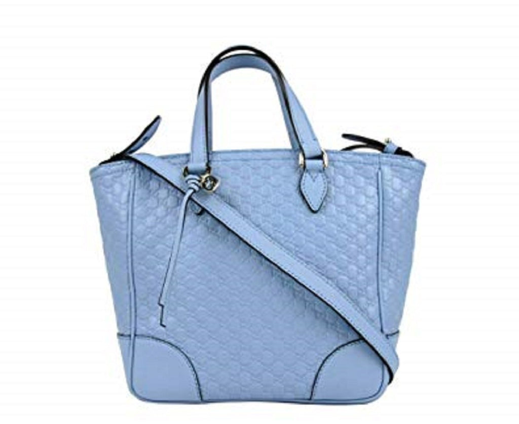 Gucci GG Microguccissima Calf Leather Mineral Blue Tote Cross Body Bag 449241 at_Queen_Bee_of_Beverly_Hills