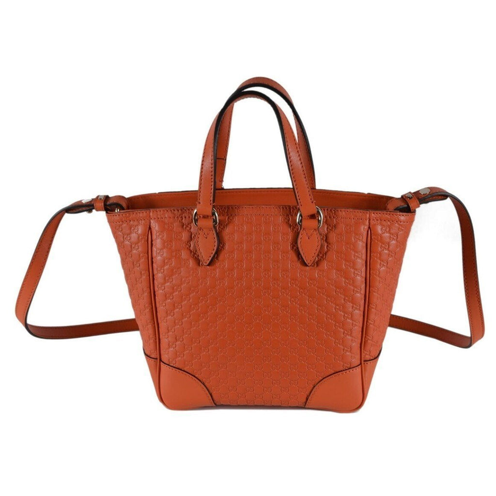 Gucci GG Microguccissima Calf Leather Orange Tote Cross Body Bag 449241 at_Queen_Bee_of_Beverly_Hills