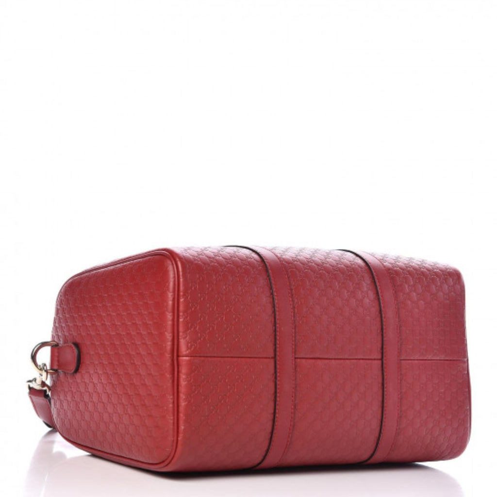 Gucci GG Microguccissima Red Boston Bag 449646 at_Queen_Bee_of_Beverly_Hills