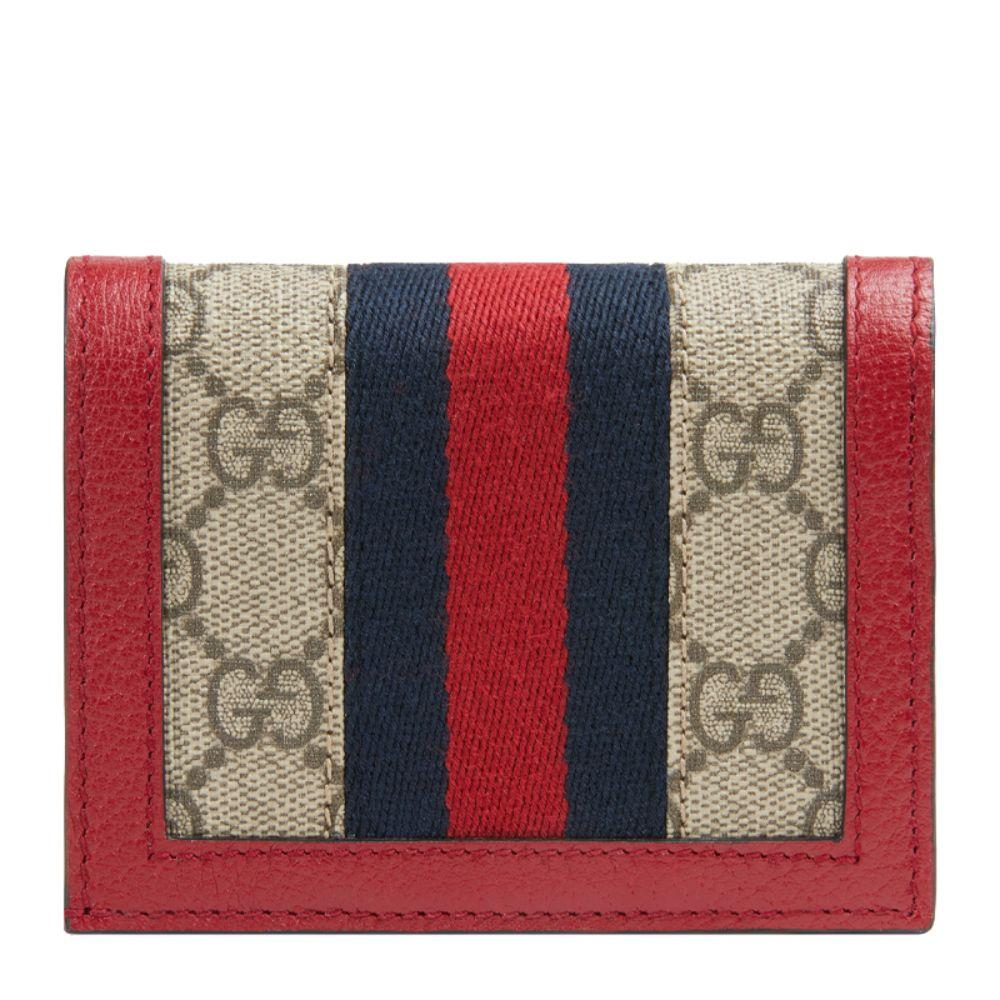 Gucci GG Supreme Red Canvas Web Stripe Leather Bee 476072 at_Queen_Bee_of_Beverly_Hills