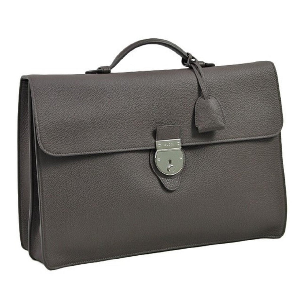 Gucci Grand Prix Collection Men's Briefcase Removable Strap Cocoa Brown 295316 at_Queen_Bee_of_Beverly_Hills