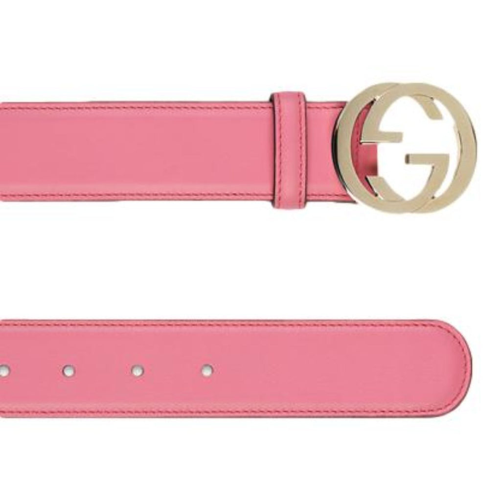 Gucci Interlocking G Buckle Pink Magenta Leather Belt 546386 90/36 at_Queen_Bee_of_Beverly_Hills