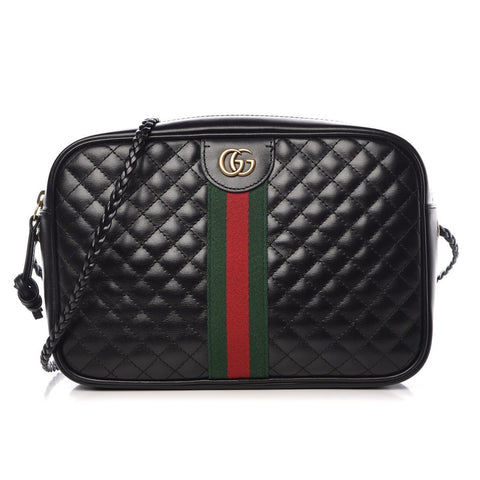Gucci Laminated Black Calfskin Bag Web GG 541051 at_Queen_Bee_of_Beverly_Hills