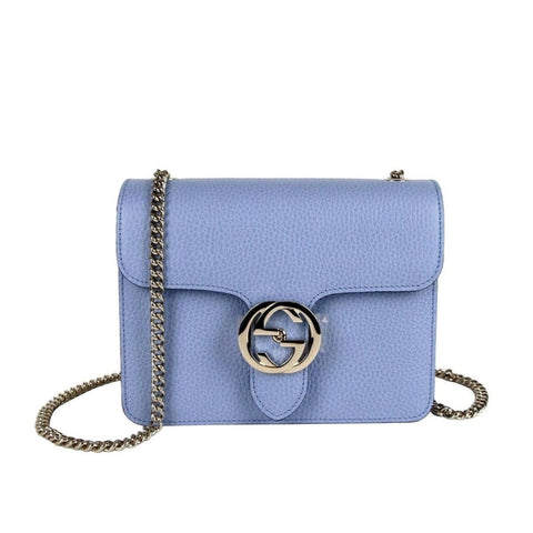 Gucci Marmont Blue Icon GG Interlocking Small Cross Body Handbag 510304 at_Queen_Bee_of_Beverly_Hills