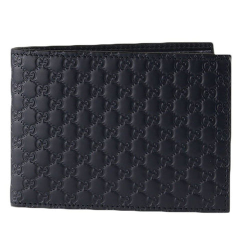 Gucci Men Black Nero Microguccissima GG Logo Embossed Leather Bifold Wallet 292534 at_Queen_Bee_of_Beverly_Hills