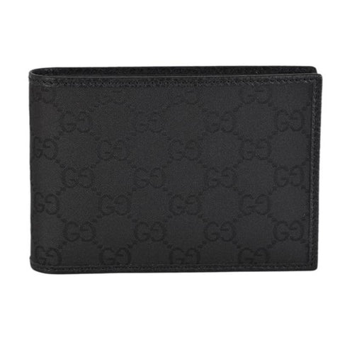 Gucci Men's Black GG Canvas w/ Removable ID Bi-fold Wallet 333042 at_Queen_Bee_of_Beverly_Hills