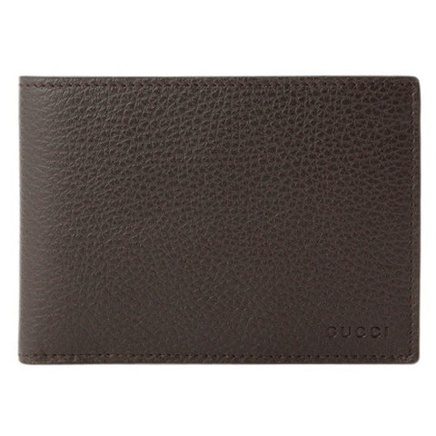 Gucci Men's Brown Dollar Calf Leather Bifold Coin Pocket Embossed Gucci Logo Wallet Gucci Logo 292534 at_Queen_Bee_of_Beverly_Hills