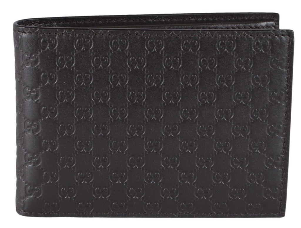 Gucci Men's Brown GG Microguccissima Calf Leather Bifold Coin Pocket Embossed Logo Wallet 292534 at_Queen_Bee_of_Beverly_Hills