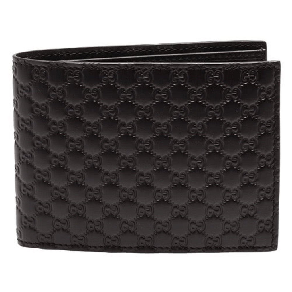 Gucci Men's Brown Microguccissima Leather Bifold Wallet Coin Pocket 367287 at_Queen_Bee_of_Beverly_Hills