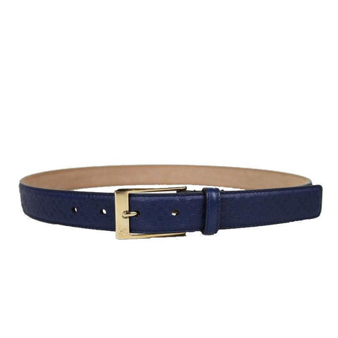Gucci Men's Classic Blue Hilary Lux Diamante  Leather Belt Size 40 345658 at_Queen_Bee_of_Beverly_Hills