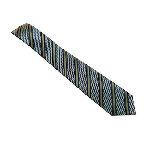 Gucci Men's Classic Blue Striped Woven Silk Deneb Necktie Luxury Tie 408862 at_Queen_Bee_of_Beverly_Hills