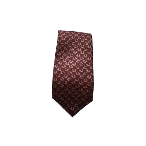 Gucci Men's Classic Burgundy Beige Necktie Woven Silk Luxury Tie 323829 at_Queen_Bee_of_Beverly_Hills