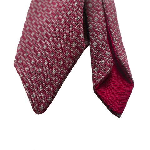 Gucci Men's Classic Red and Gray Necktie Woven Silk Tie at_Queen_Bee_of_Beverly_Hills