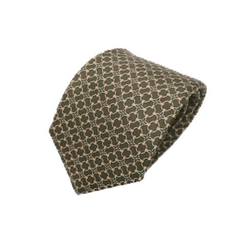 Gucci Men's Classic Tie Beige Green Luxury Twill Necktie 408867 at_Queen_Bee_of_Beverly_Hills