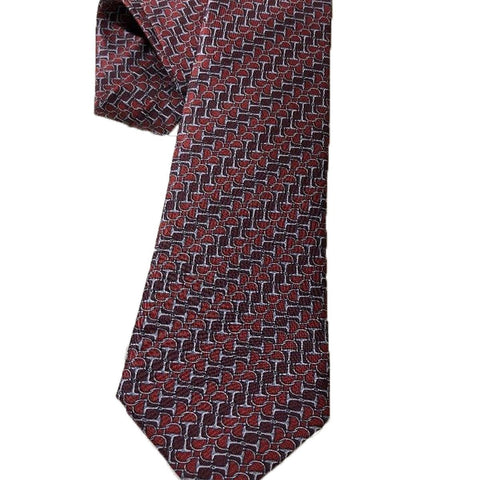 Gucci Men's Classic Tie Red Laquer Horsebit Luxury Necktie 408861 at_Queen_Bee_of_Beverly_Hills
