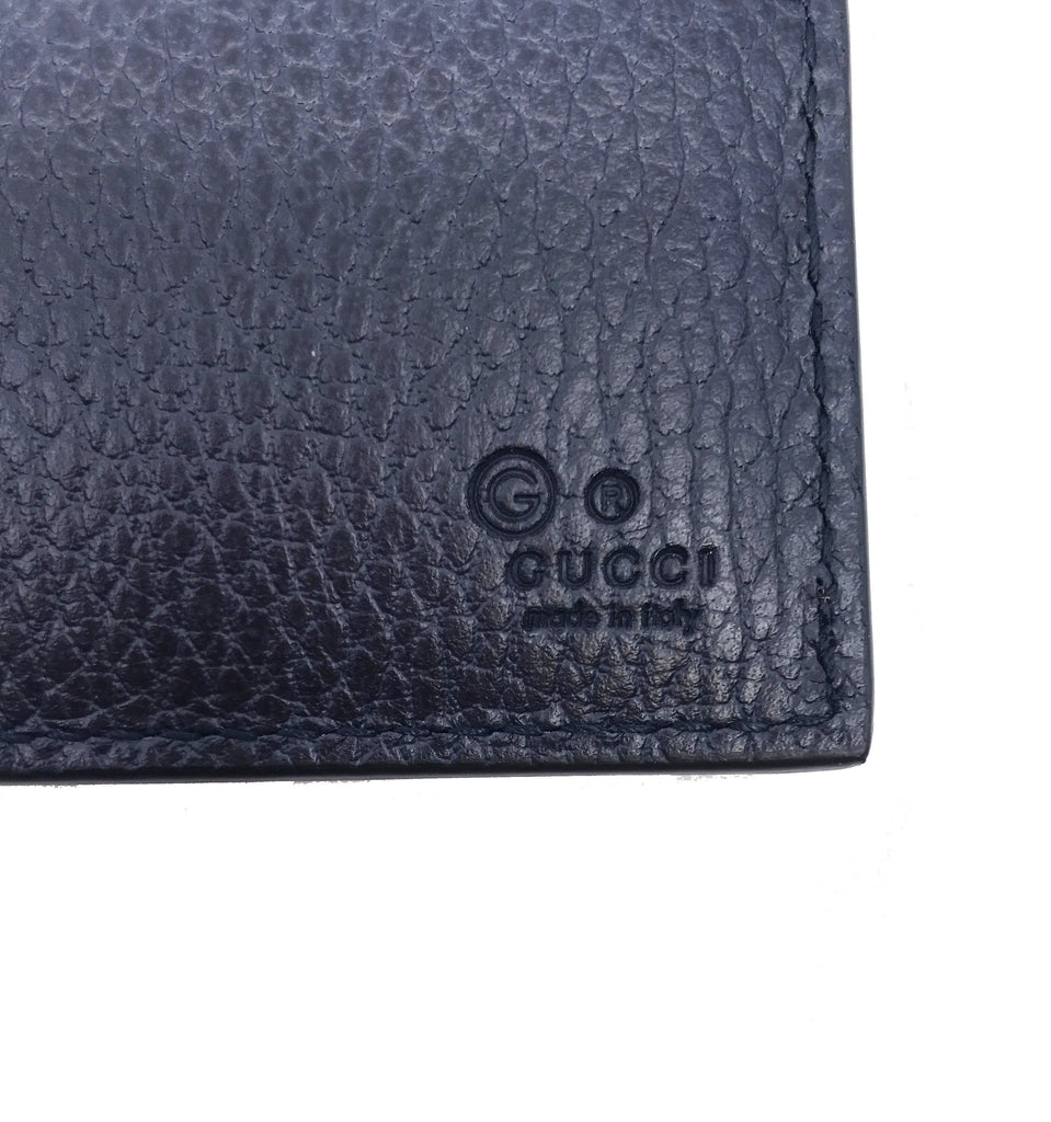Gucci Men's GG Embossed Navy Blue Leather Trifold Wallet  333042 at_Queen_Bee_of_Beverly_Hills