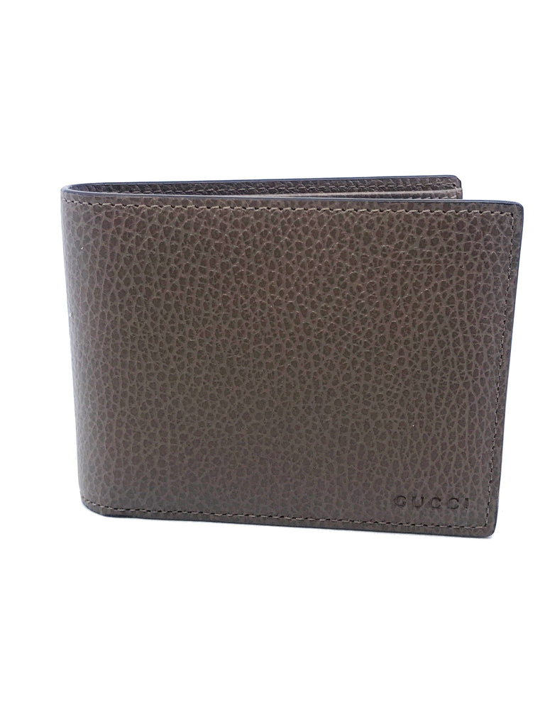 Gucci Men's Light Brown Pebbled Leather Trifold Wallet Gucci Embossed 333042 at_Queen_Bee_of_Beverly_Hills