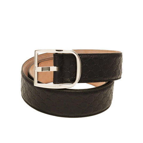 Gucci Men's Microguccissima Dark Brown Leather Belt 449716 Size: 100/40 at_Queen_Bee_of_Beverly_Hills